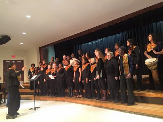 AAGC sings at the Annual Community Breakfast. Photo courtesy of Mary Custard.